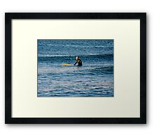 Waiting for the Perfect Wave......       ^ Framed Print