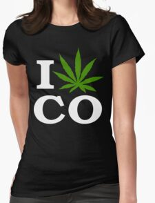 I Cannabis Colorado Womens Fitted T-Shirt