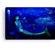 Deep Blue World Canvas Print