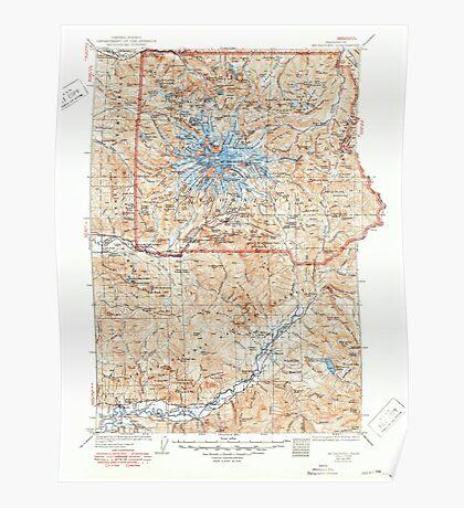 USGS Topo Map Washington State WA Mt Rainier 242675 1928 125000 Poster