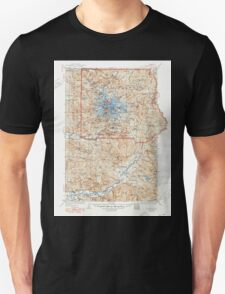 USGS Topo Map Washington State WA Mt Rainier 242675 1928 125000 Unisex T-Shirt