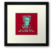 All Your Base - Red T Framed Print