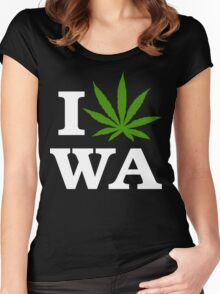 I Cannabis Washington Women's Fitted Scoop T-Shirt