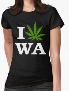 I Cannabis Washington Womens Fitted T-Shirt