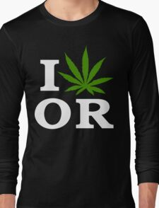 I Cannabis Oregon Long Sleeve T-Shirt