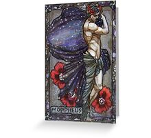 Morpheus in poppies Greeting Card