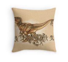Everybody Loves T.rex Throw Pillow