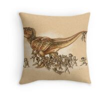 Everybody Loves T.rex Throw Pillow