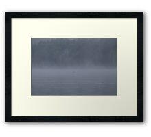 Foggy Morning Fishing  #11 Framed Print