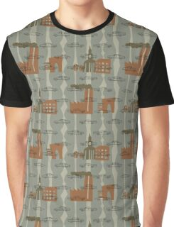 1950s Car Pattern - Version No.3 Graphic T-Shirt