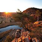 Glen Helen Gorge Sunrise by Bill  Robinson