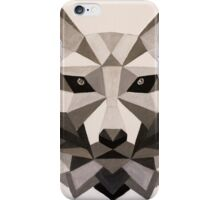 Grey Wolf - Low Poly iPhone Case/Skin