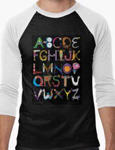 Children's Alphabet (black background) Men's Baseball ¾ T-Shirt