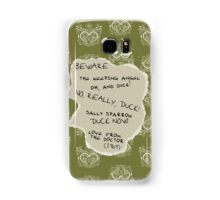 Beware the Weeping Angel Samsung Galaxy Case/Skin
