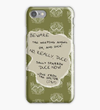 Beware the Weeping Angel iPhone Case/Skin