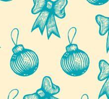 Vintage christmas pattern Sticker