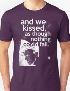 """And we kissed, as though nothing could fall"" - David Bowie T-Shirt"