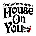 Don't Make Me Drop A House On You Wizard of Oz by gleekgirl