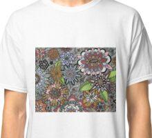 Chalkboard Flowers Classic T-Shirt