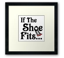 Wizard of Oz - If The Shoe Fits Framed Print