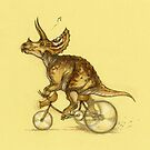 Tricycling Triceratops. by Himmapaan