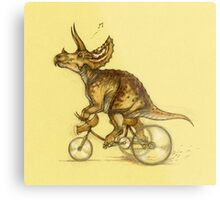 Tricycling Triceratops. Metal Print