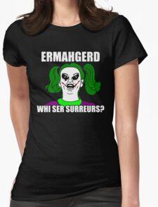Ermahgerd Bertmern! Womens Fitted T-Shirt