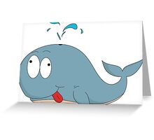 Cartoon whale Greeting Card