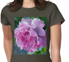 Mottled pink rose and bud Womens Fitted T-Shirt