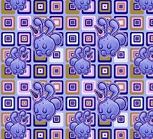 Icecream Bunny Pattern by SaradaBoru