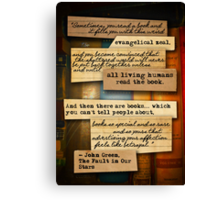 Thoughts from Books Canvas Print