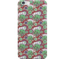 Sleeping Green Puppy Pattern iPhone Case/Skin