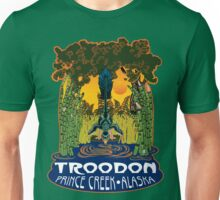 Retro Troodon in the Rushes (dark-colored shirt) Unisex T-Shirt