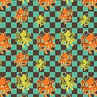 Fancy Octopus Checkered Pattern by SaradaBoru