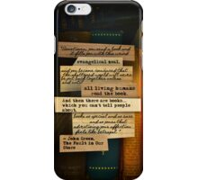 Thoughts From Books on Phones iPhone Case/Skin