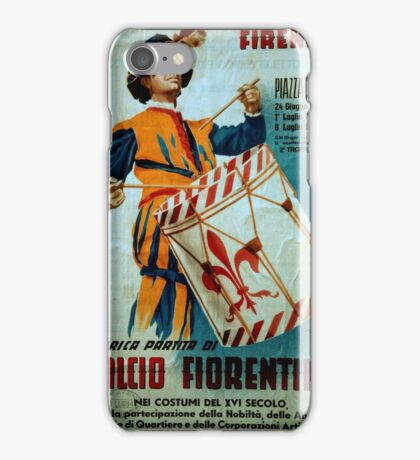 Calcio Fiorentino Parade Poster Florence Italy 19840708 0025 iPhone Case/Skin
