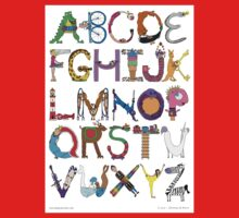 Children's Alphabet One Piece - Short Sleeve