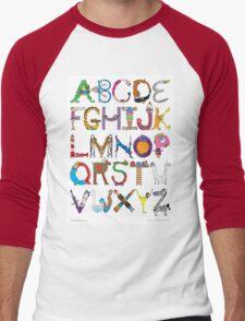 Children's Alphabet Men's Baseball ¾ T-Shirt