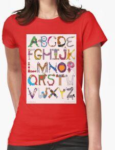 Children's Alphabet Womens Fitted T-Shirt