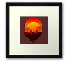 Circle of the life Framed Print