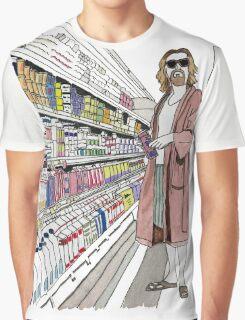 Jeffrey Lebowski and Milk. AKA, the Dude. Graphic T-Shirt