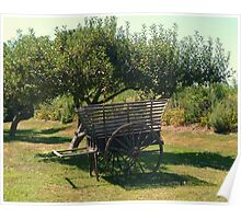 Another view - Antique Apple Cart, Prescott Farm, Middletown, RI Poster