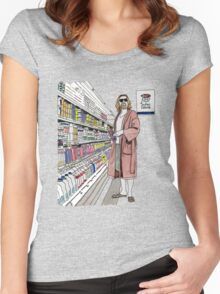 Jeffrey Lebowski and Milk. AKA, the Dude. Women's Fitted Scoop T-Shirt