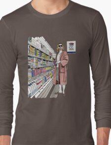 Jeffrey Lebowski and Milk. AKA, the Dude. Long Sleeve T-Shirt