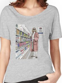 Jeffrey Lebowski and Milk. AKA, the Dude. Women's Relaxed Fit T-Shirt