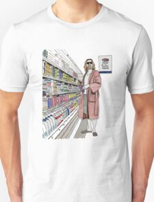 Jeffrey Lebowski and Milk. AKA, the Dude. Unisex T-Shirt