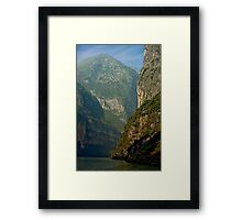 Three Gorges River Bend Framed Print