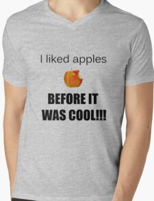 I always liked apples... Mens V-Neck T-Shirt