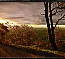 Sun Set at Mt Ainslie, Canberra/Australia by Wolf Sverak