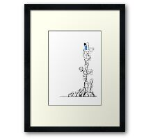 Queen of Blocks Framed Print